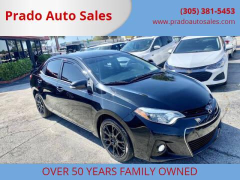 2016 Toyota Corolla for sale at Prado Auto Sales in Miami FL