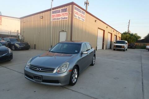 2006 Infiniti G35 for sale at Universal Credit in Houston TX