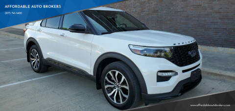 2020 Ford Explorer for sale at AFFORDABLE AUTO BROKERS in Keller TX