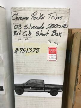 CHROME ROCKER TRIM CHEVY for sale at Tyndall Motors - Clearance in Tyndall SD