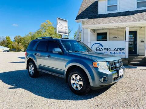 2010 Ford Escape for sale at BARKLAGE MOTOR SALES in Eldon MO