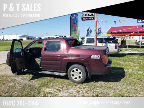 2008 Honda Ridgeline for sale at P & T SALES in Clear Lake IA