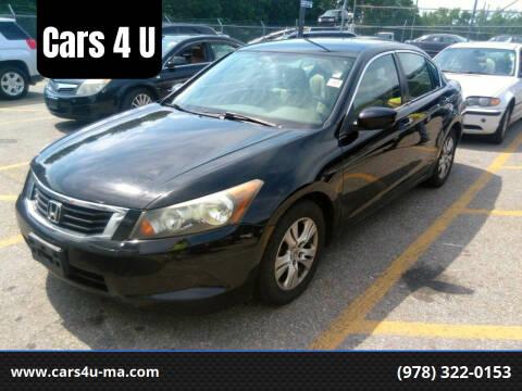 2010 Honda Accord for sale at Cars 4 U in Haverhill MA
