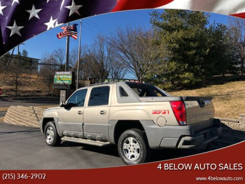 2002 Chevrolet Avalanche for sale at 4 Below Auto Sales in Willow Grove PA