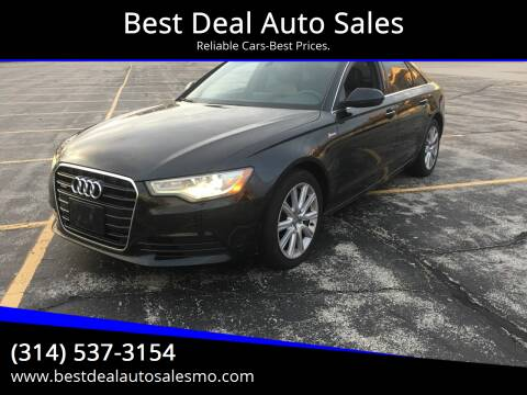 2013 Audi A6 for sale at Best Deal Auto Sales in Saint Charles MO