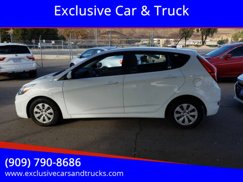 2015 Hyundai Accent for sale at Exclusive Car & Truck in Yucaipa CA