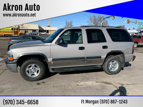 2004 Chevrolet Tahoe for sale at Akron Auto - Fort Morgan in Fort Morgan CO
