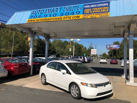 2008 Honda Civic for sale at Auto Smart Charlotte in Charlotte NC