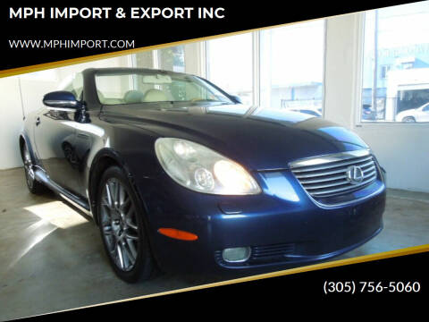 2003 Lexus SC 430 for sale at MPH IMPORT & EXPORT INC in Miami FL