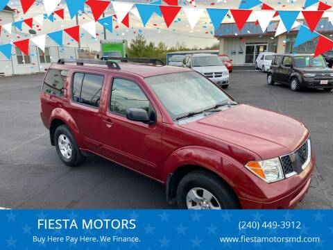 2007 Nissan Pathfinder for sale at FIESTA MOTORS in Hagerstown MD