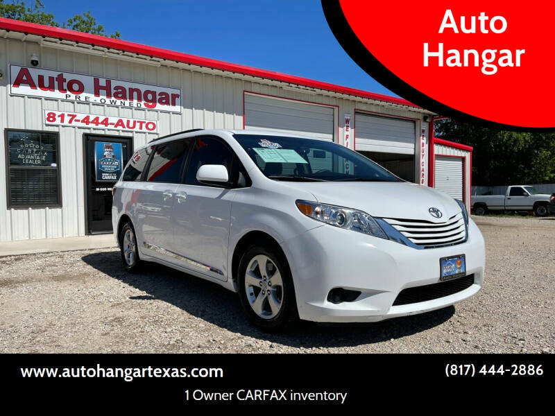 2016 Toyota Sienna for sale at Auto Hangar in Azle TX