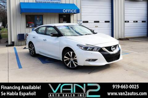 2017 Nissan Maxima for sale at Van 2 Auto Sales Inc in Siler City NC