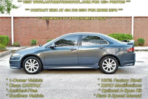 2008 Acura TSX for sale at Automotion Of Atlanta in Conyers GA