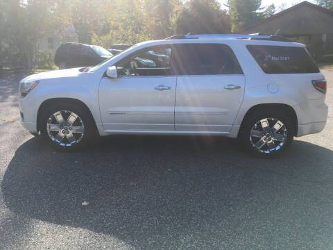 2013 GMC Acadia for sale at Lou Rivers Used Cars in Palmer MA