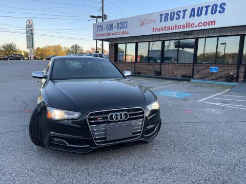 2013 Audi S5 for sale at Trust Autos, LLC in Decatur GA