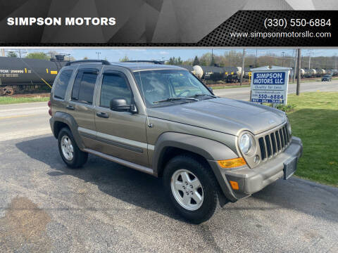 2006 Jeep Liberty for sale at SIMPSON MOTORS in Youngstown OH