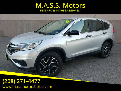 2016 Honda CR-V for sale at M.A.S.S. Motors - Emerald in Boise ID