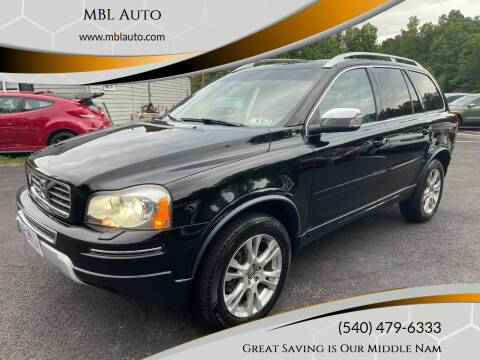 2013 Volvo XC90 for sale at MBL Auto Woodford in Woodford VA