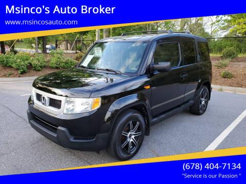2011 Honda Element for sale at Msinco's Auto Broker in Snellville GA