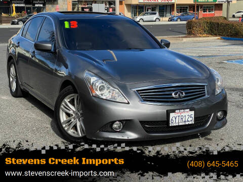 2013 Infiniti G37 Sedan for sale at Stevens Creek Imports in San Jose CA
