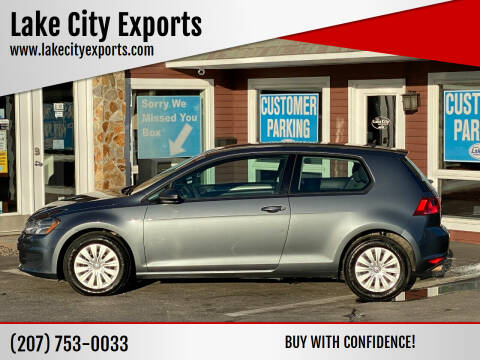 2015 Volkswagen Golf for sale at Lake City Exports in Auburn ME