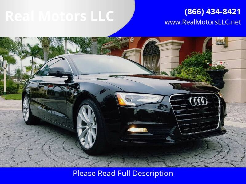 2013 Audi A5 for sale at Real Motors LLC in Clearwater FL