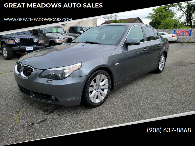 2005 BMW 5 Series for sale at GREAT MEADOWS AUTO SALES in Great Meadows NJ