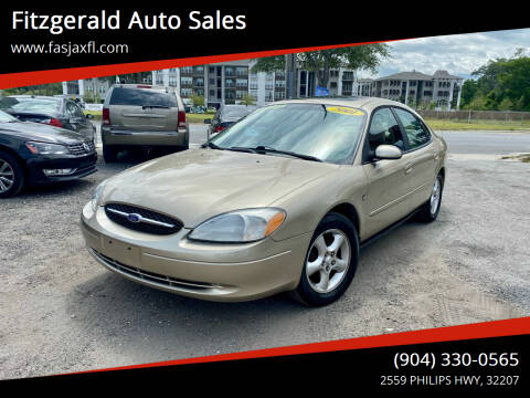 2001 Ford Taurus for sale at Fitzgerald Auto Sales in Jacksonville FL