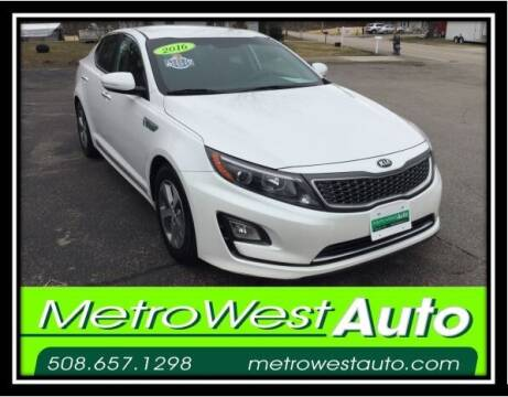 2016 Kia Optima Hybrid for sale at Metro West Auto in Bellingham MA