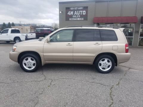 2005 Toyota Highlander for sale at 4M Auto Sales | 828-327-6688 | 4Mautos.com in Hickory NC