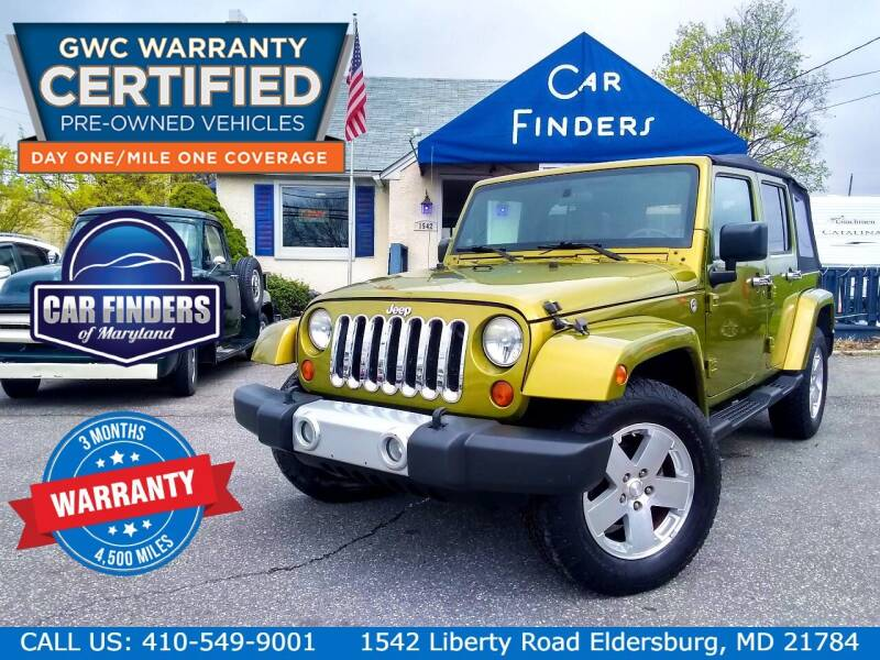 2008 Jeep Wrangler Unlimited for sale at CAR FINDERS OF MARYLAND LLC - Certified Cars in Eldersburg MD