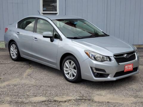 2016 Subaru Impreza for sale at Bethel Auto Sales in Bethel ME