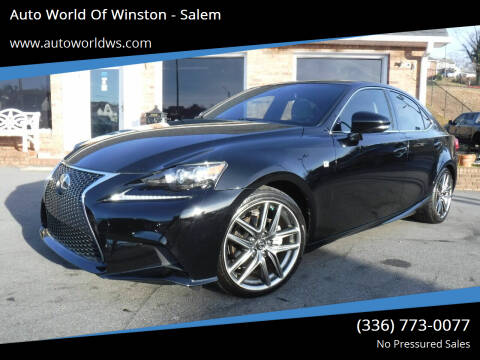 2014 Lexus IS 250 for sale at Auto World Of Winston - Salem in Winston Salem NC
