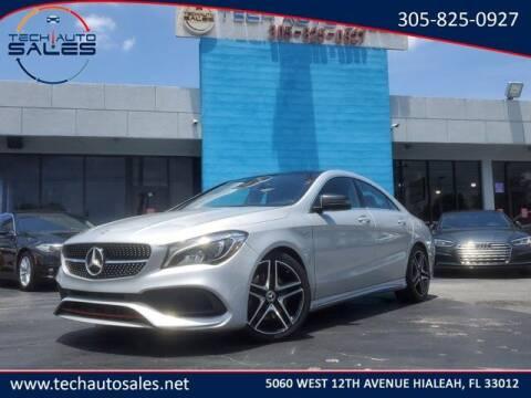 2018 Mercedes-Benz CLA for sale at Tech Auto Sales in Hialeah FL