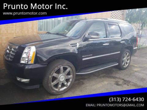 2007 Cadillac Escalade for sale at Prunto Motor Inc. in Dearborn MI