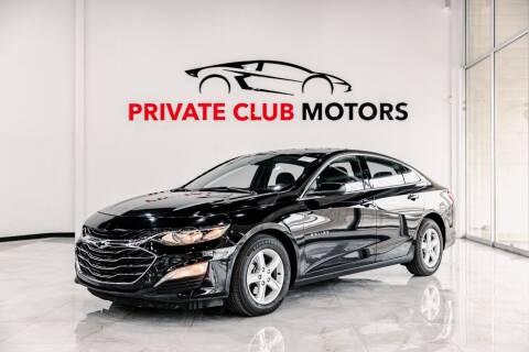2020 Chevrolet Malibu for sale at Private Club Motors in Houston TX