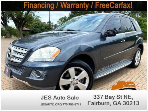 2010 Mercedes-Benz M-Class for sale at JES Auto Sales LLC in Fairburn GA