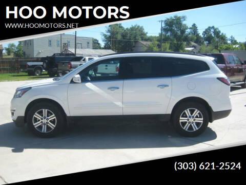 2015 Chevrolet Traverse for sale at HOO MOTORS in Kiowa CO