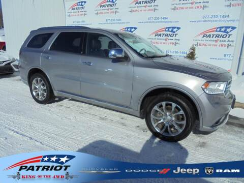 2017 Dodge Durango for sale at PATRIOT CHRYSLER DODGE JEEP RAM in Oakland MD
