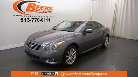 2012 Infiniti G37 Coupe for sale at Becks Auto Group in Mason OH