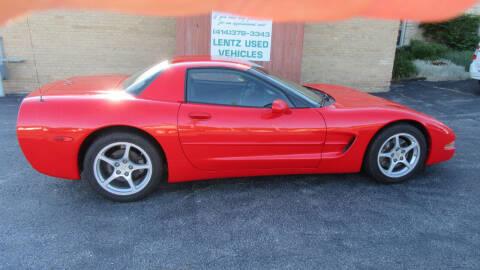 2000 Chevrolet Corvette for sale at LENTZ USED VEHICLES INC in Waldo WI