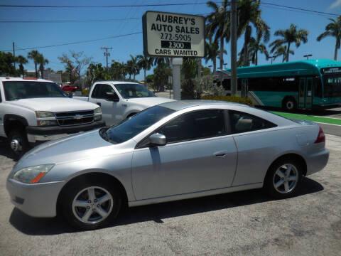 2005 Honda Accord for sale at Aubrey's Auto Sales in Delray Beach FL