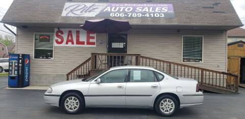 2001 Chevrolet Impala for sale at Ritz Auto Sales, LLC in Paintsville KY