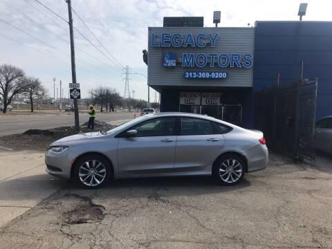 2015 Chrysler 200 for sale at Legacy Motors in Detroit MI