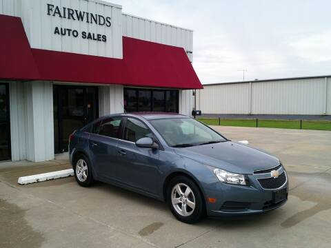 2012 Chevrolet Cruze for sale at Fairwinds Auto Sales in Dewitt AR