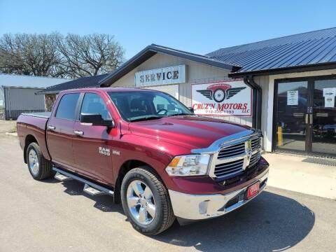 2018 RAM Ram Pickup 1500 for sale at CRUZ'N MOTORS in Spirit Lake IA