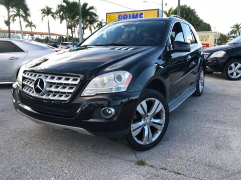 2011 Mercedes-Benz M-Class for sale at PRIME AUTO CENTER in Palm Springs FL