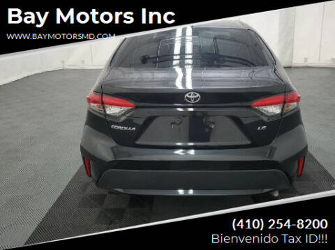 2021 Toyota Corolla for sale at Bay Motors Inc in Baltimore MD