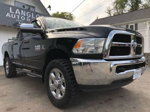2015 RAM Ram Pickup 2500 for sale at Langlois Auto and Truck LLC in Kingston NH