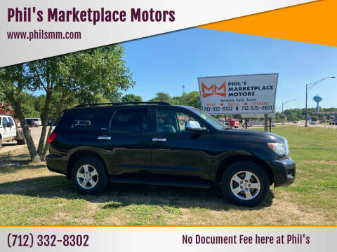 2008 Toyota Sequoia for sale at Phil's Marketplace Motors in Arnolds Park IA